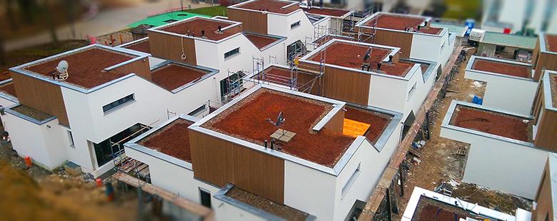 Attika-Abdeckungen auf Flachdächern