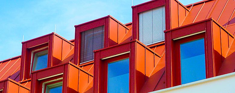 Gauben in Dachstuhl (rot)