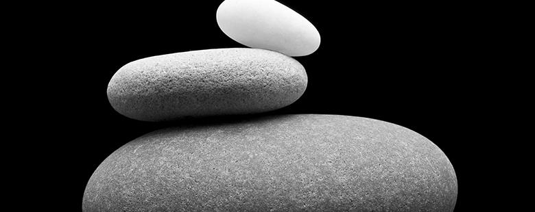 Kieselsteine zu Kiesfangleiste