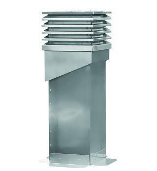 Aufzugschacht-Entlüftung Lamelle für Steildach